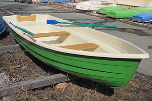 Стеклопластиковая лодка Тортилла-395 с Рундуками